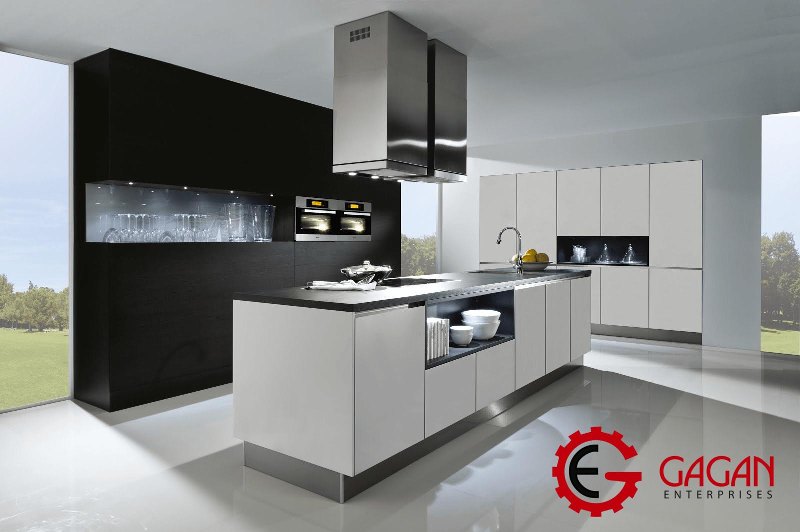 Grey Modular Kitchen Design Ideas Gagan Enterprises